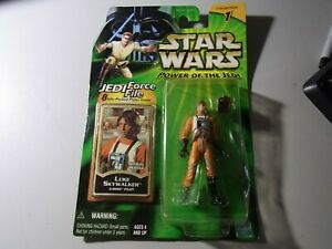 Luke Skywalker X-Wing Pilot Power of the Jedi Collection 1 Star Wars Figure.