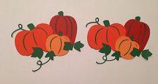 Fall pumpkin Trio Die Cut Handmade With Card stock Embellishment Paper Piecing