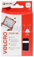 VELCRO® Brand VEL-EC60236 Stick On Squares 25mm x 24 Sets - Black