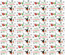 Personalised Christmas Gift Wrap BING style Wrapping Paper