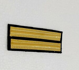 Marine Navy Ship`s 2 Strips Flight Engineer Officer  Uniform Epaulets Board