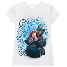 Disney Store Pixar Brave Merida Organic T-Shirt Girls Size 5/6 3 Bears