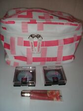 2X Maybelline Eyeshadow 50 Tantalizing Teal + Lipgloss Guava + Cliniq Makeup Bag