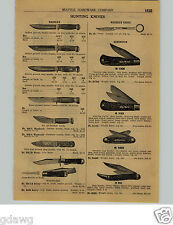 1924 PAPER AD Marble's Hunting Sheath Knife Woodcraft De Weese Remington
