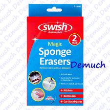 Nouveau Pack De 2 Magic Sponge Eraser Puissance Supplémentaire tache & Éraflures Remover Maison Voiture UK ✔