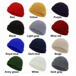 Men Women Knitted Baggy Beanie Winter Warm Hat Ski Causal Knit Cap Unisex Hat