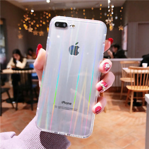 Holographic Transparent Laser Rainbow Clear For iPhone 11 Pro Max XR X XS 8 7