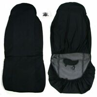 Universal Front Car/Van Seat Covers Protectors Black Duty Heavy Waterproof D4A4