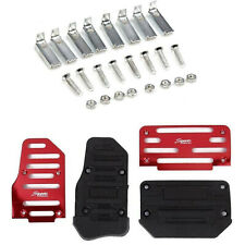 Universal Red Non-Slip Automatic Pedal Brake Foot Treadle Cover Accessories Kit
