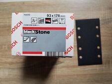 Bosch Feuilles Abrasives BlackStone, 93x178 mm,180, (x50)