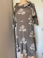 Masai Dress Tunic Top UK Size M Medium Womens Ladies Grey White Light Summer 14