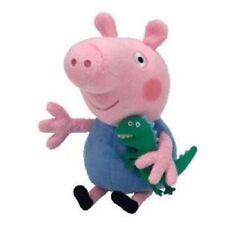 "Peppa Pig TY Beanie Buddy GEORGE the Pig 12"" tall Plush Soft Stuffed Toy"