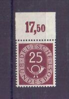 Bund 1951 - 25Pf. Posth. MiNr. 131 postfrisch** Oberrand - Michel 130,00 € (004)