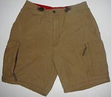 Mens M 32 - 34 Abercrombie & Fitch Paratroops Elastic Drawcord Cargo Shorts