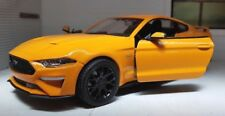 1:24 Escala Naranja Ford Mustang 2018 3.7 5.0 V8 Gt de Metal Súper Coche Modelo