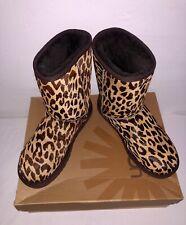 UGG Australia Classic Leopard Leather Calf skin Print Boots Size US 9 New In Box