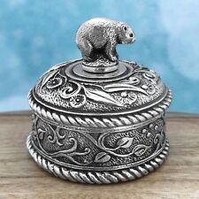 Wombat Souvenir Jewellery Box Australiana Gift, Australian Made Pewter