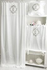 ELVIRA CAPPUCCINO BESTICKT Gardine 2x(145x250cm) Vorhang Romantik Shabby Franske
