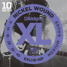 D'Addario EXL115-10P XL Nickel Blues Jazz Rock 011-049 Electric Guitar Strings