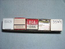 AA5 50C5 35W4 12AV6 12BA6 12BE6 AA5 Radio Tube Set #2
