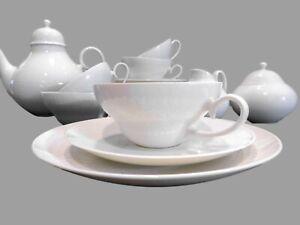 TEESERVICE  Rosenthal Porzellan Romanze in Weiß 22 Teile