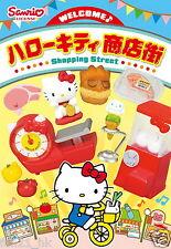 New Japan Re-ment Miniature Sanrio Hello Kitty Shopping Street rement 8 PCS