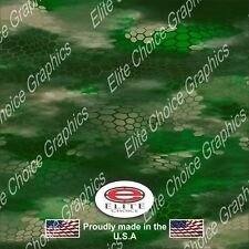 """Chameleon Hex Green CAMO DECAL 3M WRAP VINYL 52""""x15"""" TRUCK PRINT REAL CAMOUFLAGE"""