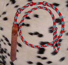New over and under rope whip barrel racing gymkhana horse tack  Hand Braided!!!