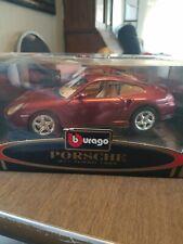 Burago Porsche 911 Turbo 1999  . 1/18 Scale . Red