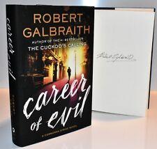 *SIGNED 1/1* CAREER OF EVIL Robert Galbraith J.K. Rowling (Cuckoo's Calling) COA