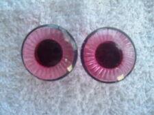 "1 Pair Pink Plastic Safety Eyes for Teddy Bear/Doll/Sfuffed Animal.  Eye is 1"""