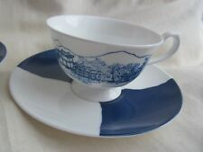 NIKKO JAPAN ALAN CHAN EAST MEETS WEST PAIR CUPS & SAUCERS NEW CONDITION WILLOW