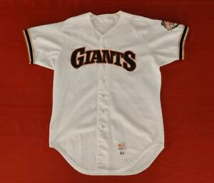 San Francisco Giants #34 Mark Grant 1984 Wilson Game Worn White Home Jersey