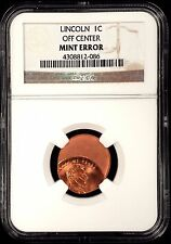 No Date Lincoln Cent certified Off Center Mint Error by NGC! sku 086