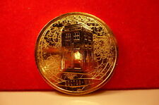 24K GOLD FINISHED Dr who The 10th Doctor medal coin on its own card.