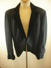 Mens L 42L Vestimenta Black Tuxedo Suit Jacket Velvet Smoking Reenactment Blazer