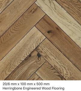 Herringbone Dulwich Oak Rustic 20/6 x 100 x 500mm  engineered wood flooring