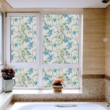 3D Floral Static Window Films No Glue Waterproof Glass Sticker Opaque Room Decor