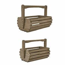 Park Designs Rustic Weathered Wood Baskets Set of 2