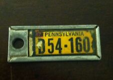 1967 PENNSYLVANIA Mini License Plate D.A.V. Key Chain Fob (D54-160)