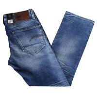 G-Star RAW Men's 3301 Straight Medium Aged Finch Stretch Denim (Retail $150)
