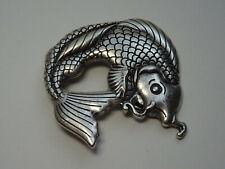 Vintage Gürtelschnalle Buckle Silber Schnalle Fisch Koi Gürtel Accessoires