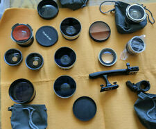 Lot of 9 lenses and accessories