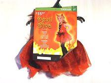 Child Girls Pink Size 2T DEVIL DIVA Halloween Costume Dress Up