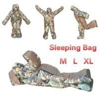 Winter Warm Humanoid Shape Sleeping Bag Camping Lazy Duty Night Warm Equipment