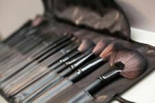 24 Pcs Make Up Brush Set & Cosmetic Brushes Case Nature Wood