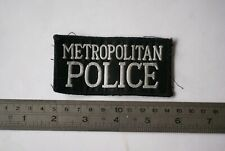 Obsolete British police black patch for the Metropolitan Police from London