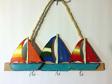 Sailboat Wall Accent Wall Hook Decor Coat Hanger