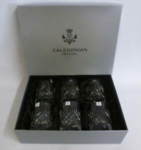 Caledonian Lead Crystal Glasgow Tumbler 300ml x6