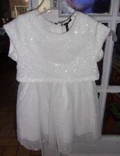 738e528313a86 Robe de Fêtes IKKS blanche Dentelle et sequins 4 ans neuve